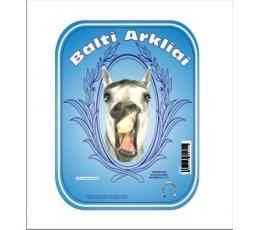 """Etiketė buteliui """"Balti arkliai"""""""