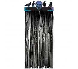 """Folinė užuolaida-dekoracija """"Kaukolė su paukščiais"""""""