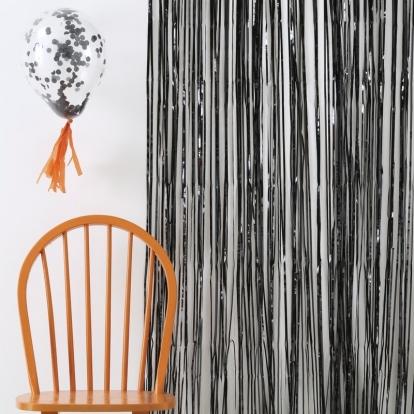 Folinė užuolaida-lietutis, juoda (245x91 cm)