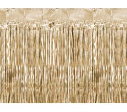 Folinė užuolaida-lietutis, rusvai auksinė (90x250 cm)