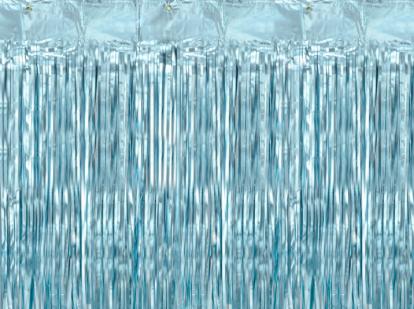 Folinė užuolaida-lietutis, žydra (90x250 cm)