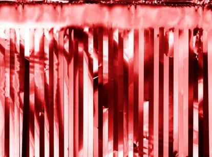 Folinio lietučio girlianda, raudona (18,5x400 cm)