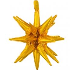 """Folinis 3D balionas """"Auksinė žvaigždė"""" (45x50 cm)"""