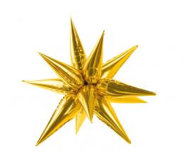 """Folinis 3D balionas """"Auksinė žvaigždė"""" (70 cm)"""