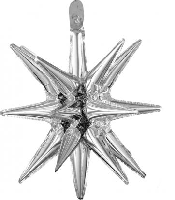 """Folinis 3D balionas """"Sidabrinė žvaigždė"""" (45x50 cm)"""