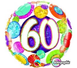 """Folinis balionas """"60"""", taškuotas (46 cm)"""