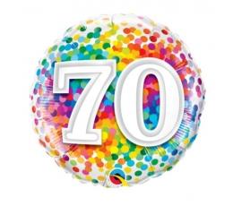 "Folinis balionas ""70 konfeti"" (46 cm)"