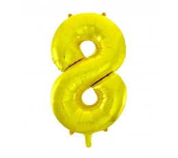 "Folinis balionas ""8"", auksinis (85 cm)"