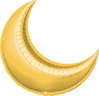 """Folinis balionas """"Auksinis mėnulis"""" (64x74 cm)"""