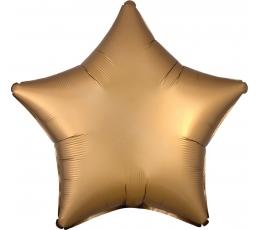 """Folinis balionas """"Aukso žvaigždė"""", matinis (48 cm)"""