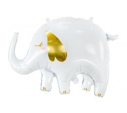 """Folinis balionas """"Baltas dramblys"""" (61x46 cm)"""