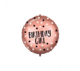 """Folinis balionas """"Birthday Girl"""" su svareliu (46 cm)"""