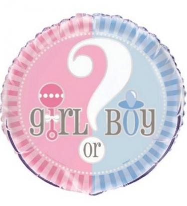 """Folinis balionas """"Boy or girl"""" (45cm.)"""