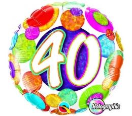 """Folinis balionas """"Burbuliukai 40"""" (46 cm)"""