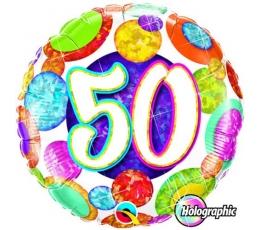 """Folinis balionas """"Burbuliukai 50"""" (46 cm.)"""