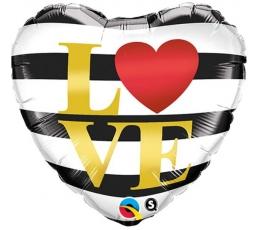 """Folinis balionas """"Dryžiai-Love"""" (46 cm)"""