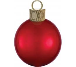 """Folinis balionas """"Eglutės žaisliukas"""", raudonas (38cmx50 cm)"""