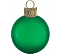 """Folinis balionas """"Eglutės žaisliukas"""", žalias (38cmx50 cm)"""