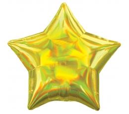 """Folinis balionas """"Geltona žvaigždė"""", holografinis"""