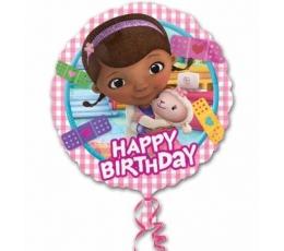 "Folinis balionas ""Happy birthday- Doc McStuffins"" (43cm)"