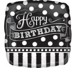 """Folinis balionas """"Happy Birthday"""", kreidinis (43cm)"""
