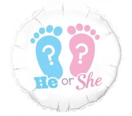 "Folinis balionas ""He or She"" (46 cm)"
