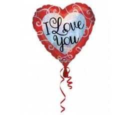 """Folinis balionas """"I love you"""" (43 cm)"""
