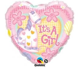 "Folinis balionas ""It's a girl"" (45 cm)"