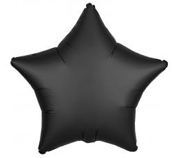 """Folinis balionas """"Juoda žvaigždė"""", matinis (48 cm)"""