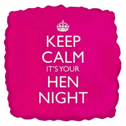 "Folinis balionas ""Keep calm it's your Hen Night"" (46 cm)"