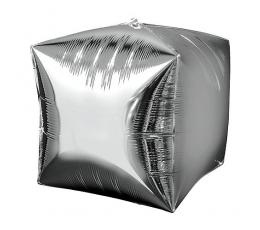 Folinis balionas-kubas, sidabrinis (38 cm)
