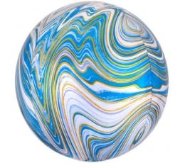 Folinis balionas-marblez, mėlynas (38x40cm)