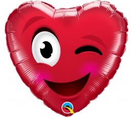 """Folinis balionas """"Meilės šypsenėlė (46 cm)"""