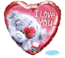 """Folinis balionas """"Meškutis su rože"""" (46 cm)"""