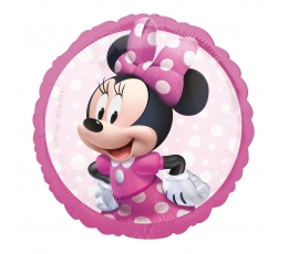 "Folinis balionas ""Minnie Mouse forever"", rožinis (43 cm)"