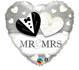 "Folinis balionas ""Mr & Mrs"" (46 cm)"