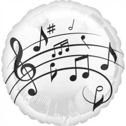 """Folinis balionas """"Muzikinės natos"""" (43 cm)"""