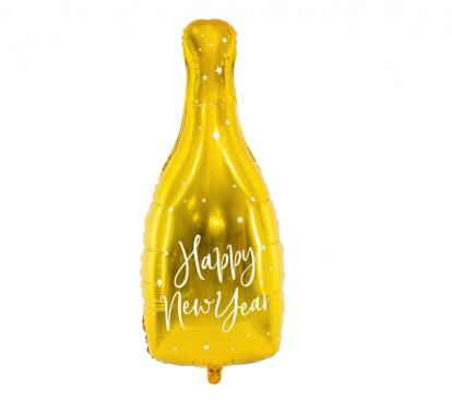 """Folinis balionas """"Naujųjų Metų šampanas"""" (32x82 cm)"""