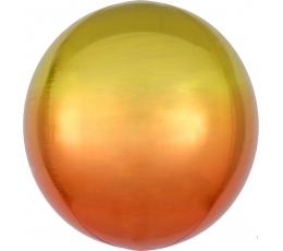 Folinis balionas-orbz, geltonas-oranžinis ombre (38 cm)