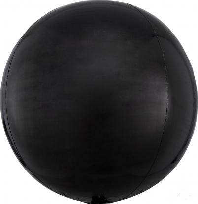 Folinis balionas-orbz, juodas (38 cm)