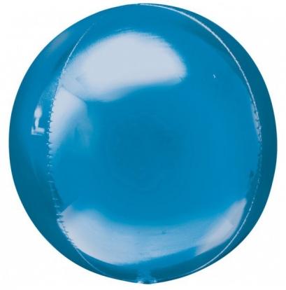 Folinis balionas-orbz, mėlynas (38 cm. x 40 cm.)