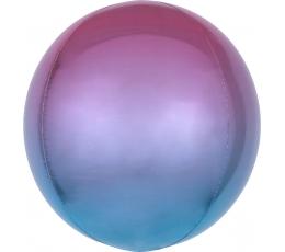 Folinis balionas-orbz, violetinis-mėlynas ombre (38 cm)