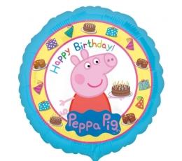 """Folinis balionas """"Peppa Pig. Su gimimo diena"""", 43 cm"""
