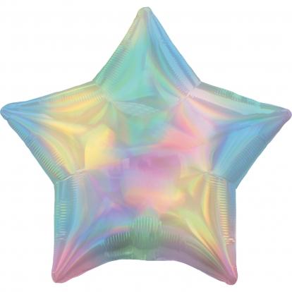 """Folinis balionas """"Perlamutrinė žvaigždė"""", holografinis"""