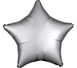 """Folinis balionas """"Platininė žvaigždė"""", matinis (48 cm)"""