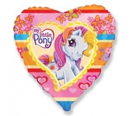 """Folinis balionas """"Poniai-širdelė"""" (45 cm)"""
