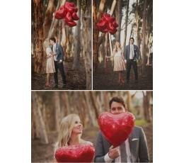 """Folinis balionas """"Raudona širdelė"""" (18"""" 45cm)"""