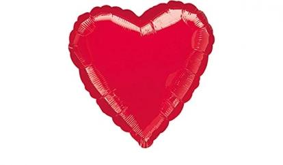 """Folinis balionas """"Raudona širdis"""" (43 cm)"""