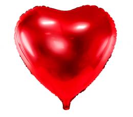 """Folinis balionas """"Raudona širdis"""" (45 cm)"""
