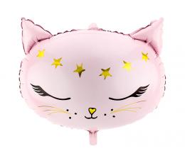"""Folinis balionas """"Rausva katytė"""" (48x36 cm)"""